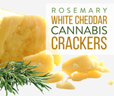 Rosemary White Cheddar Crackers 100mg